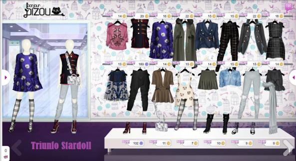 bonjour bizou stardoll ropa tienda