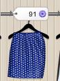 ¿Una falda con puntos blancos? -No,gracias! ¿Cómo que no? Tan solo habría que encontrar la camiseta , y ya vas perfecta!