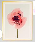 Cuadro con flor . Precio : 13 sd . (Amé los colores ^-^ )