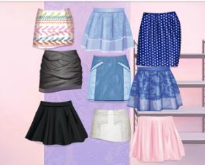 Algo que no puede faltar,son las faldas,las hay de todos los estilos(casual,rock...)