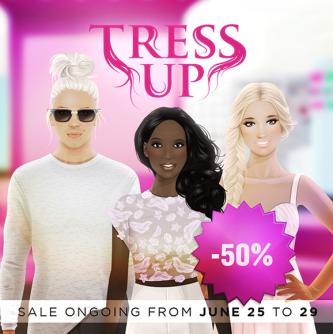 50% tress up